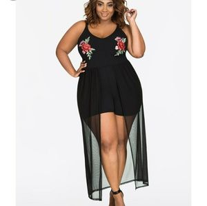 Ashley Stewart Romper Maxi plus size 30 32 (5x)